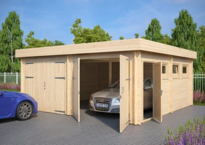 Modern-Double-Wooden-Garage-F-with-Flat-Roof
